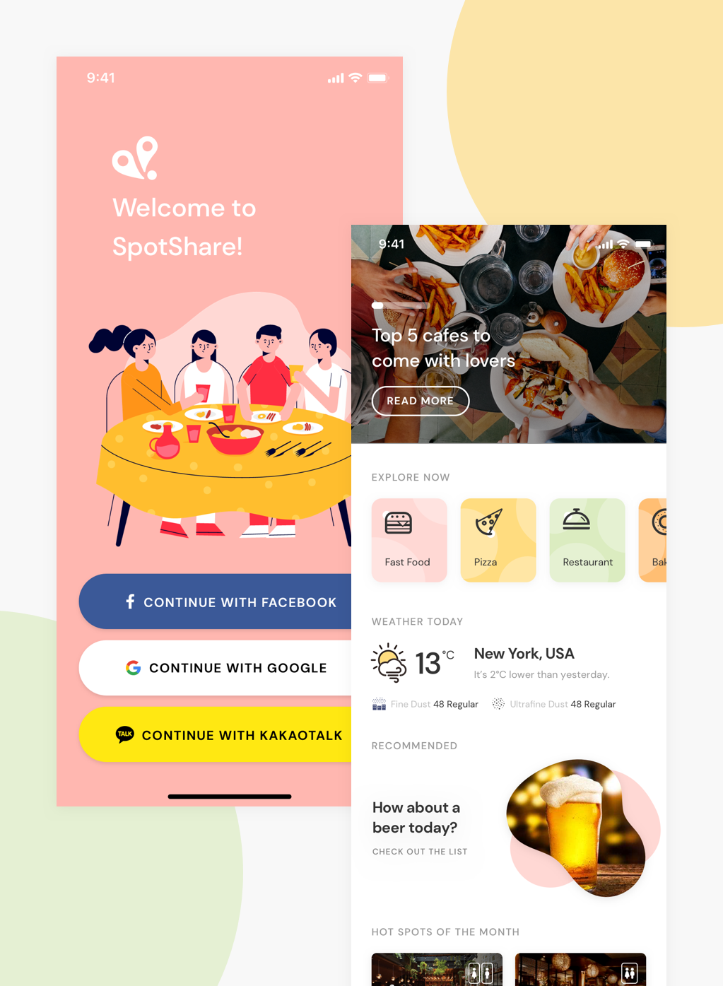 Find the best dining places in Korea, with Spotshare. (Coming Soon)